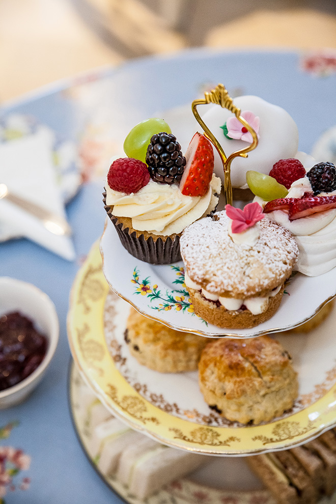 Afternoon Tea served on vintage cake-stand